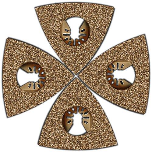 4 Pc Flooring Tile and Grout Rasp Oscillating Blades Fits Fein Multimaster Makita Genesis Bosch Dremel Craftsman Ridgid Ryobi Milwaukee Dewalt Rockwell Chicago Stanley Skil King Canada Multi Tools