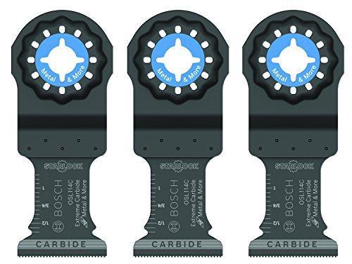 Bosch Starlock Carbide Plunge Cut Oscillating Multi-Tool Blade Set 1-14 OSL114C-3 P