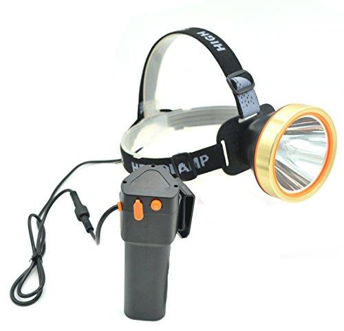 Eornmor LED Headlamp High Power Waterproof Rechargeable Headlight T6 Flashlight 15000mah 35W for Mining Camping Hiking FishingHunting