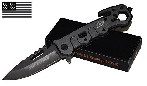 BoltGun Tactical Knife-Pocket-Folding-Multi tool-Camping-Emergency-Duty Blade