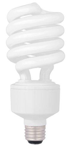 TCP 1822741K CFL Spring Lamp - 100 Watt Equivalent only 27W used Bright White 4100K HPF Spiral Light Bulb