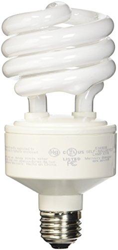 TCP 28927277 CFL Spring Lamp - 100 Watt Equivalent only 27w used Soft White 2700K MediumStandard Base e26 Spiral Light Bulb - 277-volt