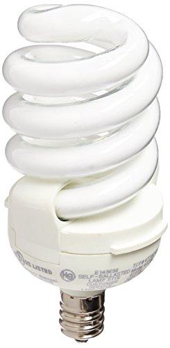 TCP 4T213C41K CFL SpringLamp - 60 Watt Equivalent only 13W used Cool White 4100K Candelabra Base Spiral Light Bulb