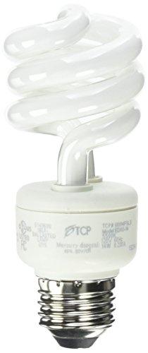 TCP 68914FSLS CFL Spring Lamp - 60 Watt Equivalent only 14W used Full Spectrum Color 5500K General Purpose Spiral Light Bulb - Medium Base