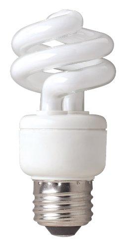 TCP 78909DL3 CFL Spring Lamp - 40 Watt Equivalent only 9W used Daylight 5000K T2 Mini Spring Spiral Light Bulb 3 Pack