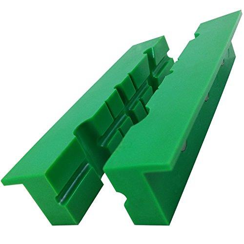 ATLIN Vise Jaws 6 - Nylon Non Marring Soft Jaws - Multi-Purpose Design for Gunsmithing Woodworking Jewelry Making Plumbing