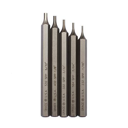 Grace USA - Starter Short Pin Punch Set - 5 Piece Punch Set - GRSPP5 - Gunsmith Tools Accessories
