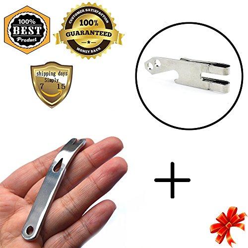 MeanHoo Stainless steel multi function crowbar Crank shape blade nail winding tool Keychain Clip Multi Purpose Tool Belt KeyChain Money Clip Bottle Opener Sets