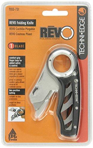 Techni Edge 03-731 REVO Folding Utility Knife Black or Gray Color Varies