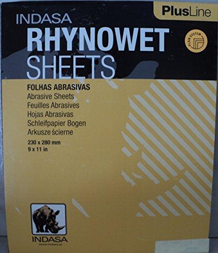 Indasa Rhynowet 220 Grit Wet Dry Sandpaper 50 Sheets