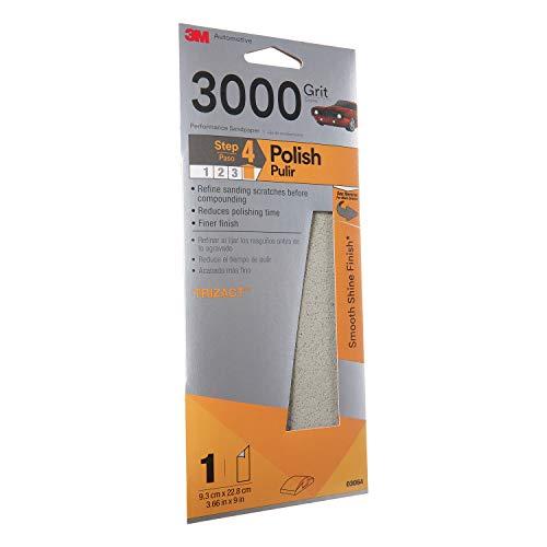3MTM TrizactTM Performance Sandpaper 03064 3-23 in x 9 in 3000 grit