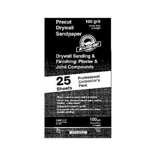 Ali Ind 03312 Bulk Precut Drywall Sandpaper Pack of 25