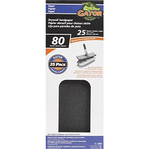 Ali Industries 4263 425 x 1125 in 80G Drywall Sandpaper - Pack Of 10