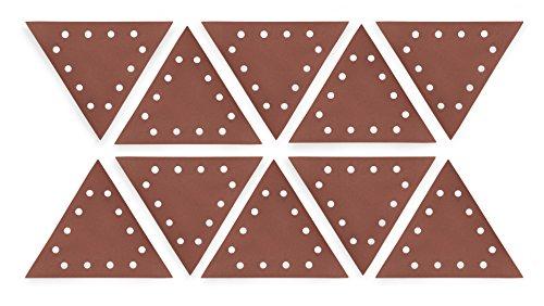 WEN 6377SP240 Drywall Sander 240-Grit Hook Loop 11-14 Triangle Sandpaper 10 Pack