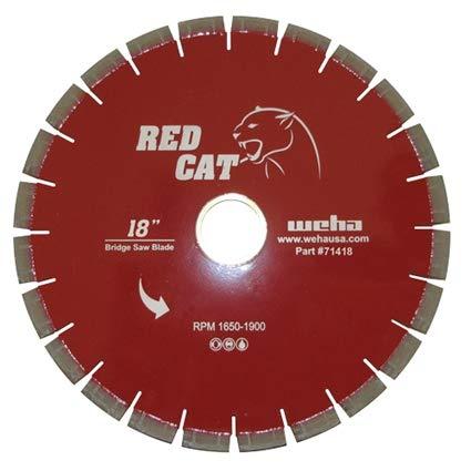 Red Cat 18 Inch Bridge Saw Blade Granite Quartz Marble Quartzite