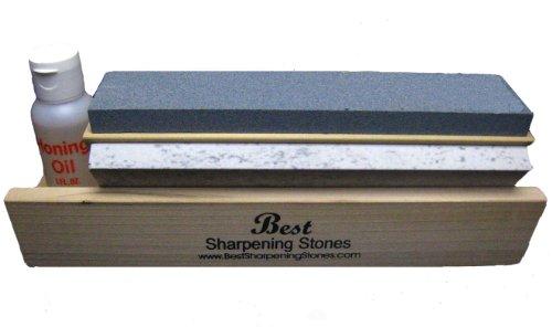 Arkansas Tri-Hone Knife Sharpener - 3 Stones 8