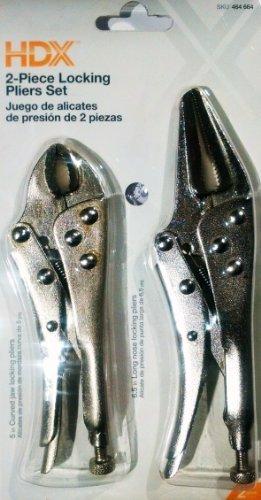 HDX 2-piece Locking Pliers Set by HDX