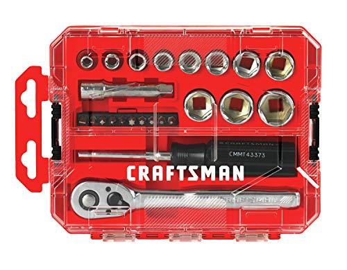 CRAFTSMAN Socket Set Nano SAE 38-Inch Drive 24-Piece CMMT12012