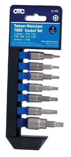 OTC 6145 Tamper-Resistant TORX Socket Set - 7 Piece