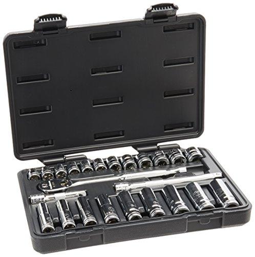 GearWrench 80559 24 Piece 38-Inch Drive Metric Socket Set StandardDeep