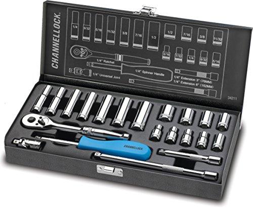 Channellock 34211 14 Drive Standard Socket set 21 Piece