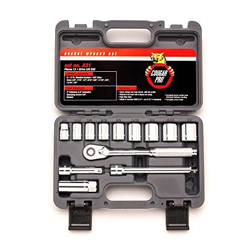 Cougar Pro A31 38 Drive 12 Point Standard Socket Set 13-Piece