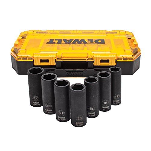 DEWALT Deep Impact Socket Set 7-Piece 12 Drive Metric DWMT74737