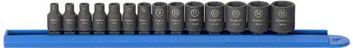 GEARWRENCH 14 Pc 14 Drive 6 Point Standard Impact Metric Socket Set - 84907