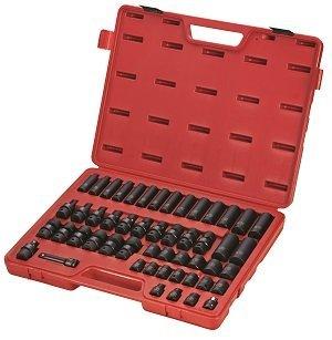 Sunex 3351 38-Inch Drive Metric Impact Socket Set 51-Piece