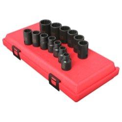 Sunex Tools SUN2679 13 Piece 12 Drive 12 Point Standard Metric Impact Socket Set