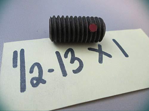 12-13 x 1 Socket Set Screws- Cup Point Nylon Insert Box Metric Set Hardware Fastener Kit Lot Of 8