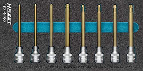 HAZET Screwdriver socket set 163-4688 Square hollow 125 mm 12 inch Ins