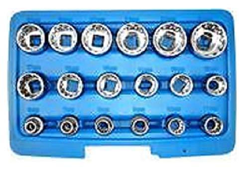 38 Dr Penta-Spline Socket Set SAE Metric TorqueJikkolumlukka