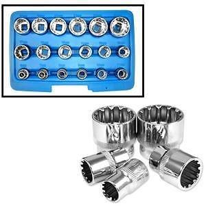 ExpertStores 38 Dr Penta-Spline Socket Set SAE Metric Torque