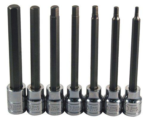 ATD Tools 13787 Extra Long 7-Piece Metric Hex Bit Socket Set