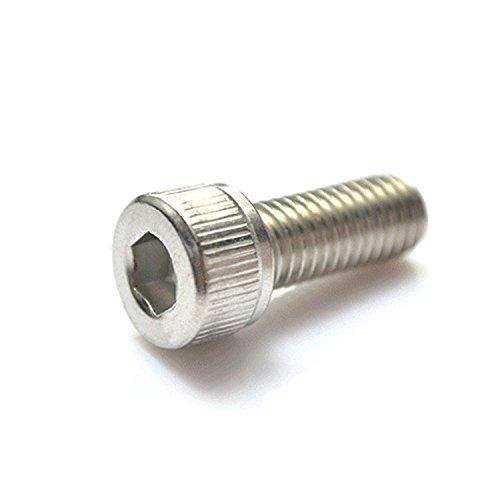 M25 x 12mm Hex Socket Head Cap ScrewsPack 100-pieceStainless SteelFull ThreadMetricKnuled Head