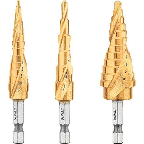 DEWALT DWA1790IR 3-Piece IMPACT READY Step Drill Bit Set