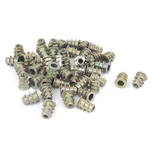 uxcell M4x10mm Hex Socket Screw in Thread Insert Nut 50 Pcs for Wood