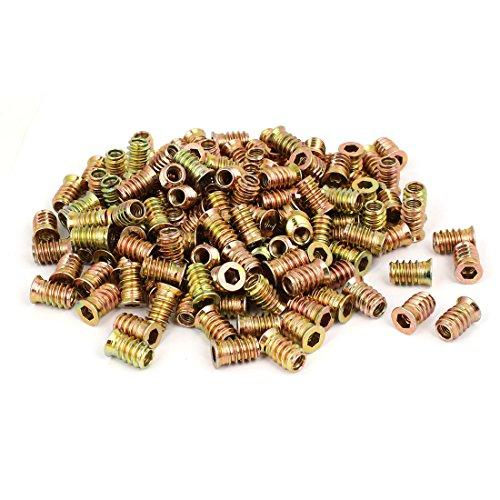 uxcell M6x17mm Flat Head Hex Socket Insert Threaded E-Nut Screw Fixing Fastener 200pcs