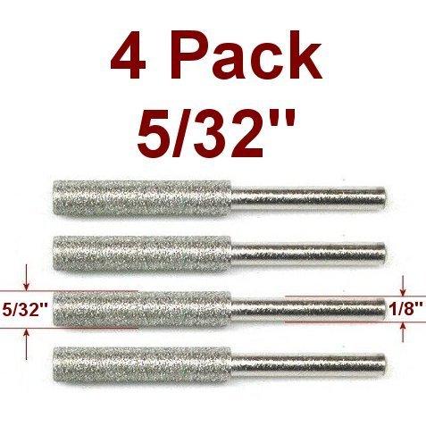 Anytime Tools 532 Diamond Chainsaw Sharpener Burr 18 Shank 4 Pack