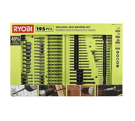 Ryobi Drill and Driver Bit Set 195-Piece