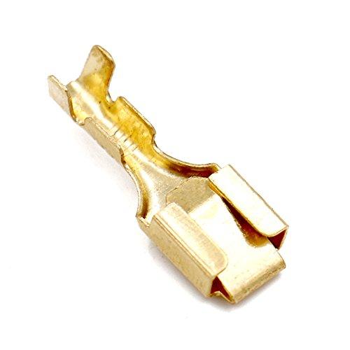 Baomain Female Spade Quick Splice Crimp Terminals 63mm Crimp Connector Non Insulated 100 Pcs