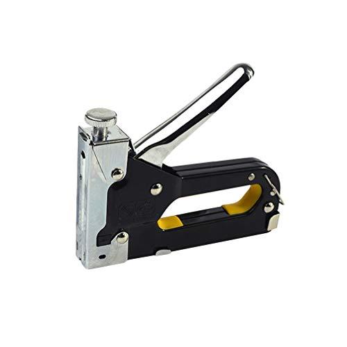 ULTECHNOVO Manual Staple Gun 3 in 1 Manual Nail Gun Portable Wood Staple Device for Fixing Material Carpentry Furniture