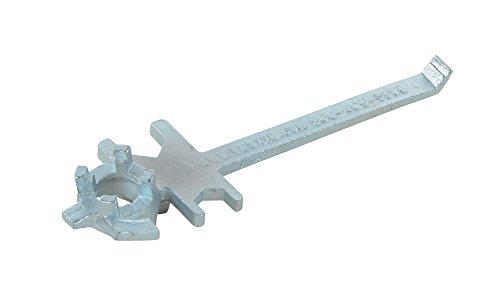 Vestil BNW-IX-W Polished Zinc Cast Steel Drum Bung Nut Wrench 12 Length