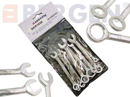 Bergen Tools 10 Piece Miniature Metric Combination Spanner Set BER1858