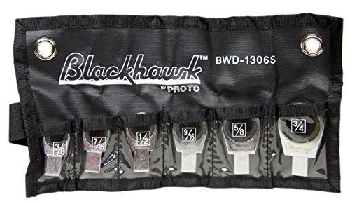 Blackhawk by Proto Racheting Box Wrench Head Set 6 Pc SAE BWD-1306S