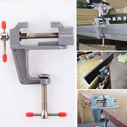 Jia Jia Trade Vises Bench Universal Table Vise Clamp Workbench Swivel Base Table Craft Model Maker