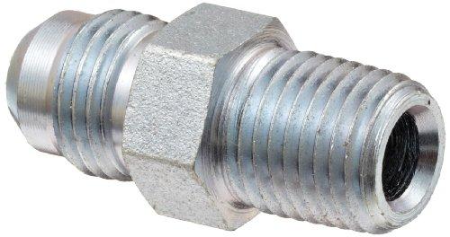 Dixon 2404-6-4 Zinc Plated Steel Hydraulic Fitting Adapter 916-18 NPT Male JIC 37 Degree Flared x 14-18 NPTF Male