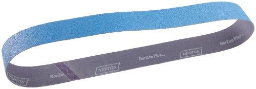 Norton BlueFire R821P Benchstand Abrasive Belt Cotton Backing Zirconia Alumina 2-12 Width 60 Length Grit 40 Pack of 10