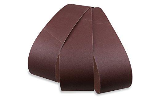 Red Label Abrasives 6 X 48 Inch Aluminum Oxide Premium Quality Multipurpose Sanding Belts 120 180 220 Grit 3 Pack Assortment